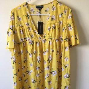 Flowy Yellow Sundress Size M (Fits oversized)